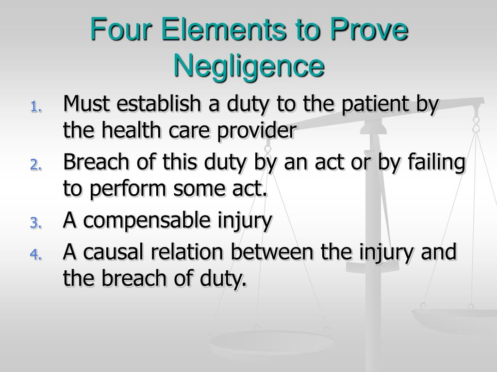 Four Elements to Prove Negligence