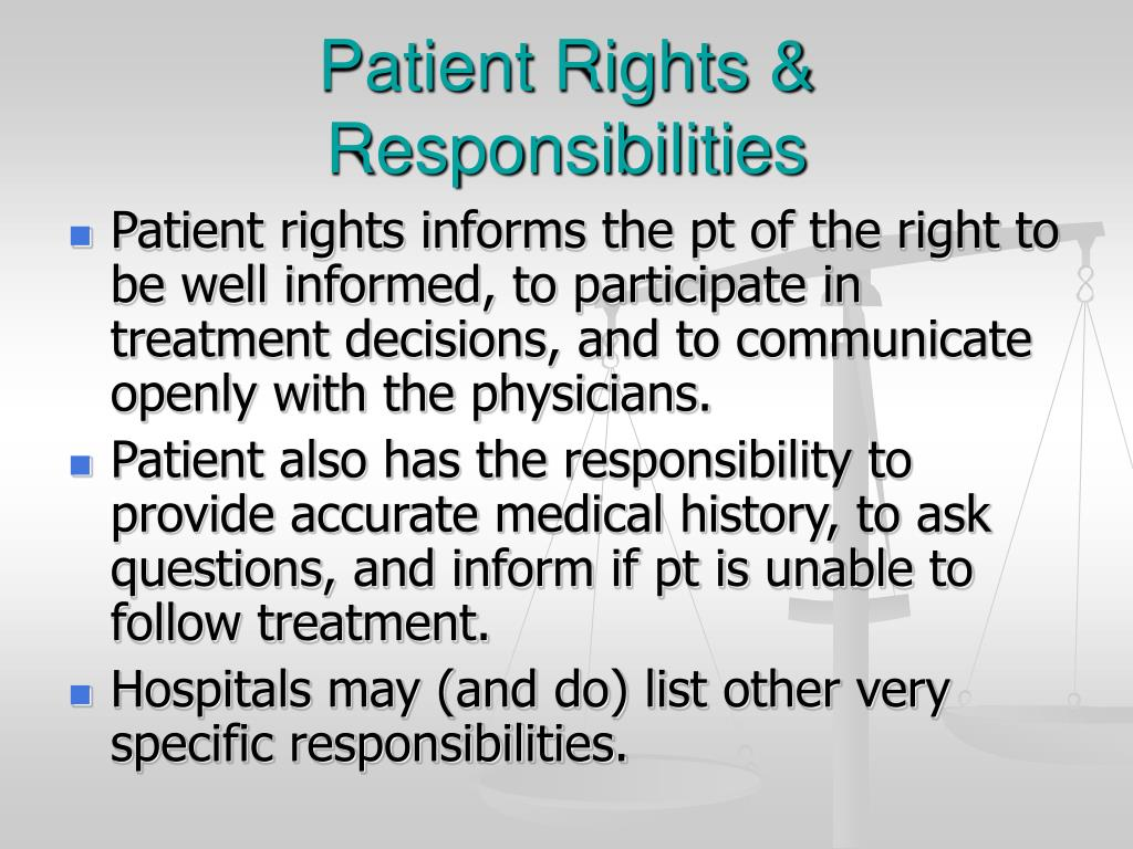 Patient Rights & Responsibilities