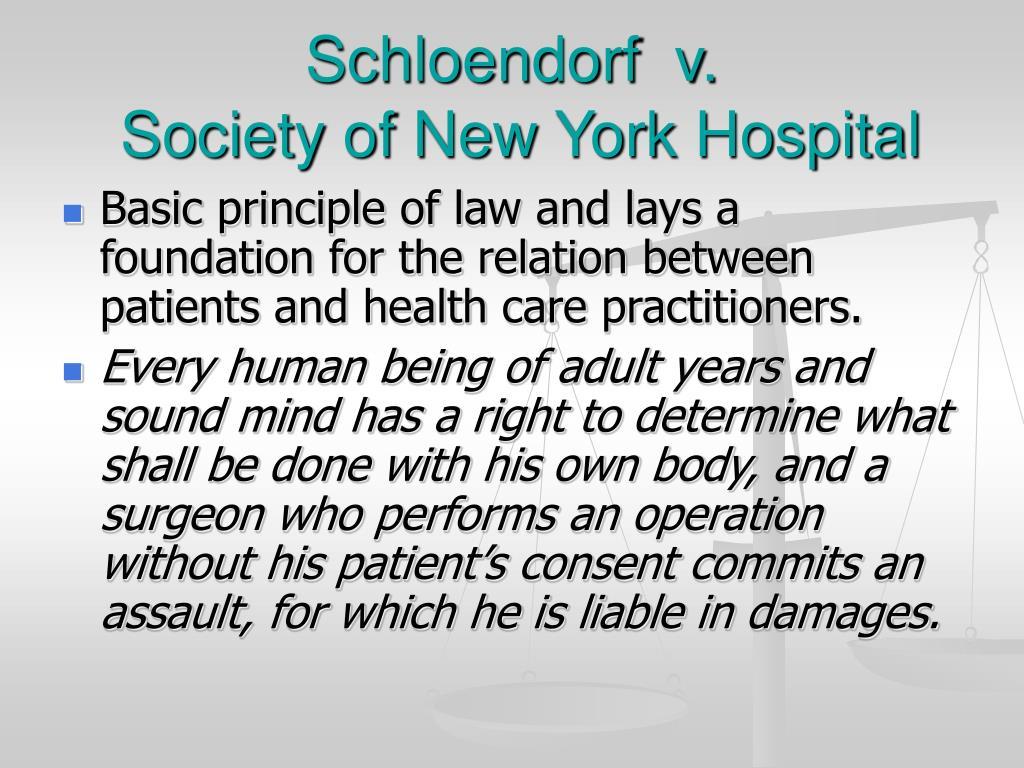 Schloendorf  v.