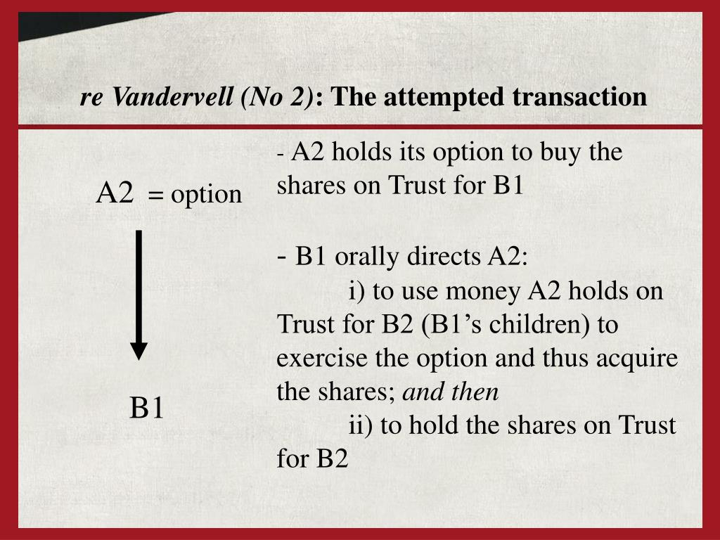 re Vandervell (No 2)