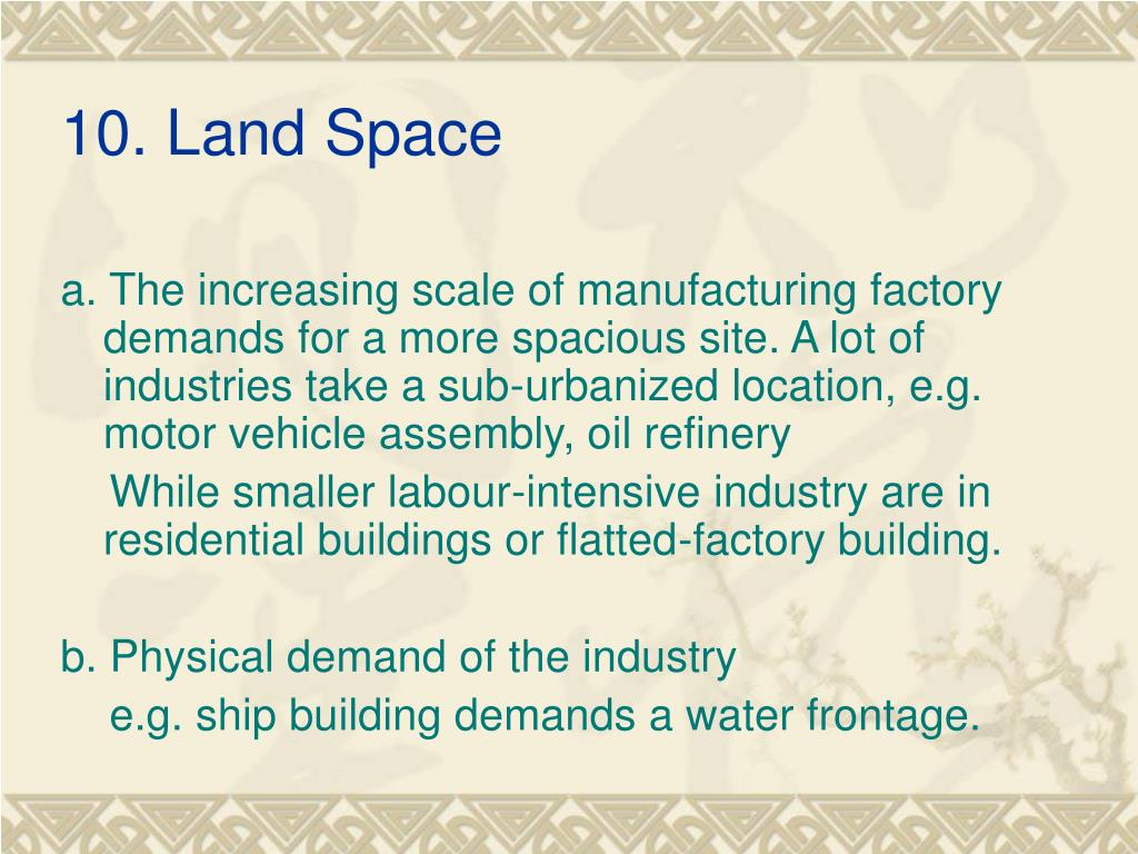 10. Land Space