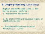 b copper processing case study
