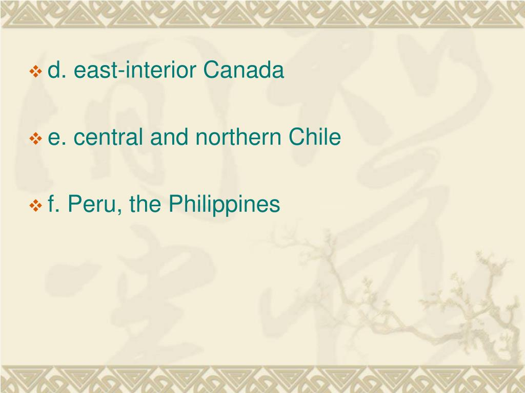 d. east-interior Canada