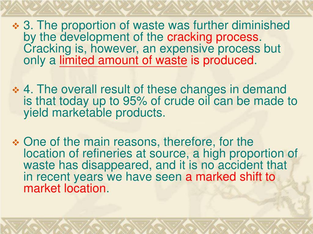 3. The proportion of waste was further diminished by the development of the