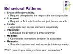 behavioral patterns