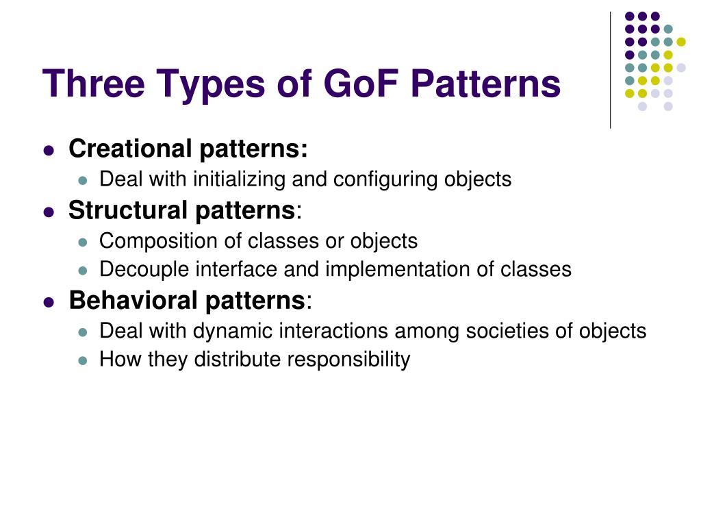 Three Types of GoF Patterns