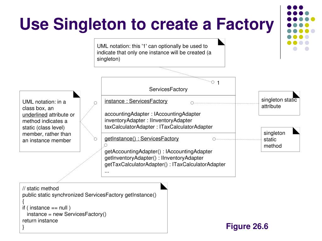 Use Singleton to create a Factory