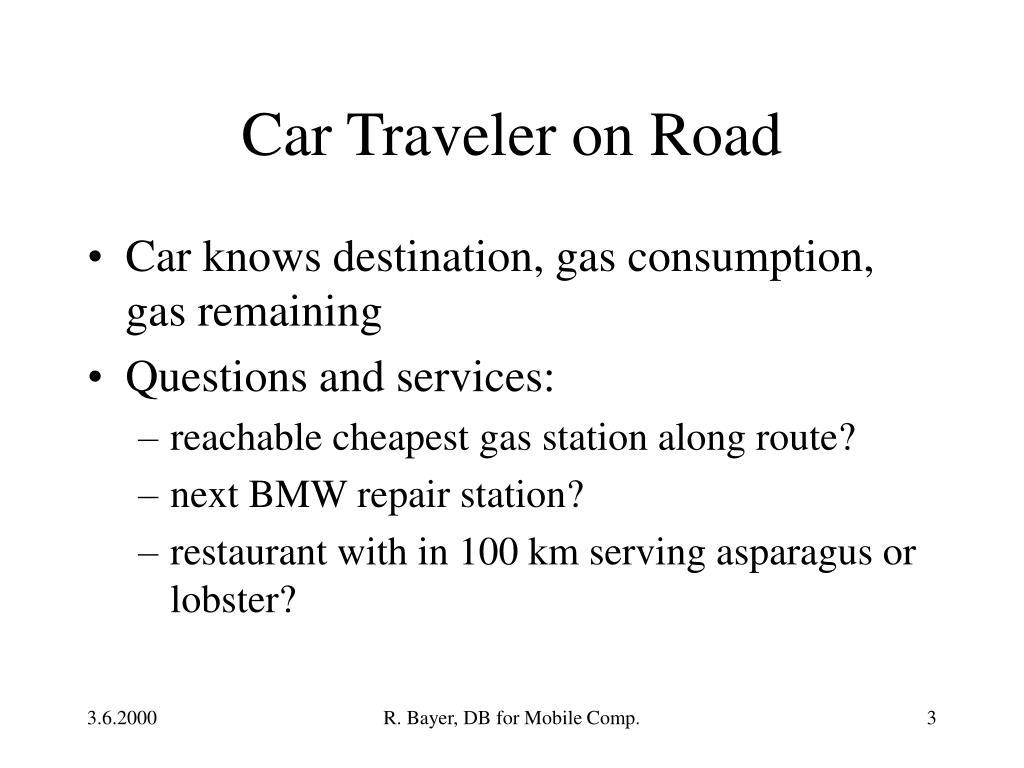 Car Traveler on Road