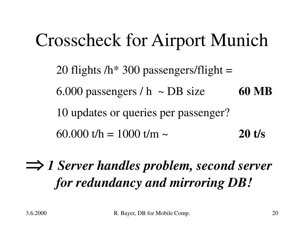 Crosscheck for Airport Munich