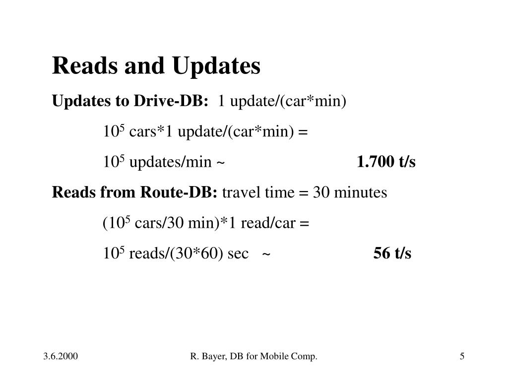 Reads and Updates