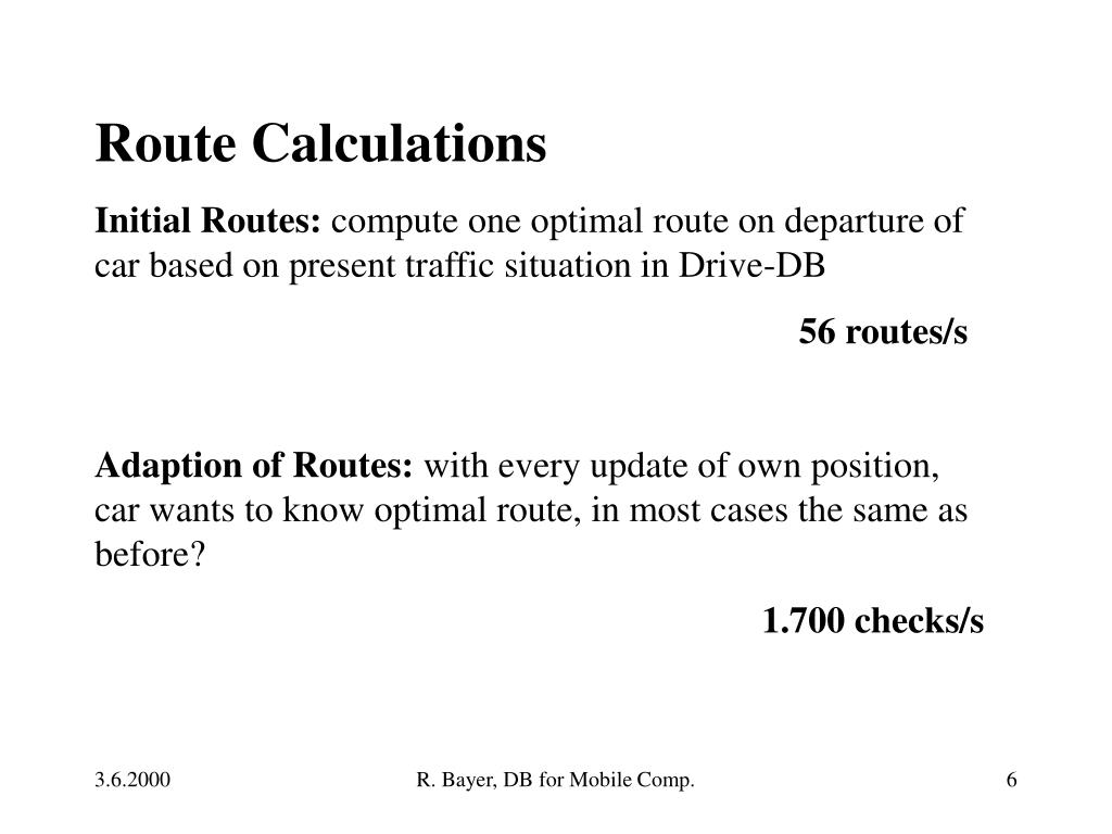 Route Calculations