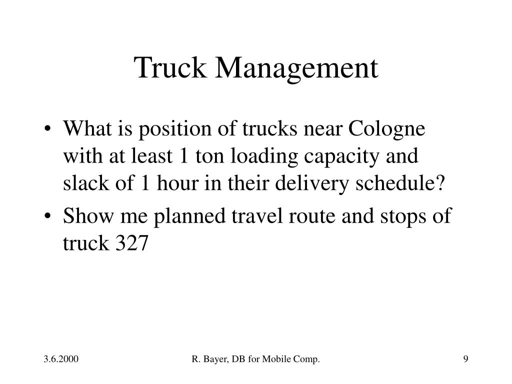 Truck Management