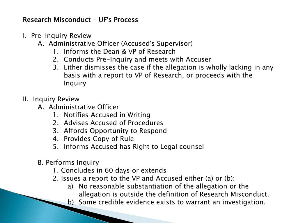 Research Misconduct - UF's Process