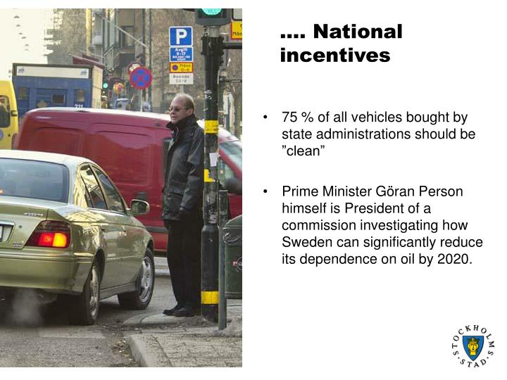 National incentives