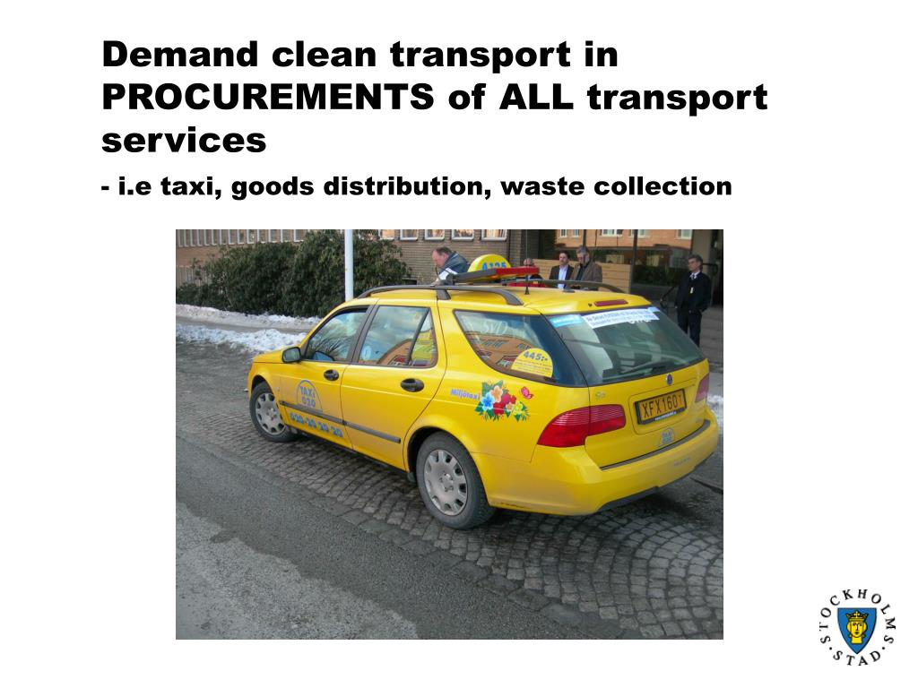 Demand clean transport in PROCUREMENTS of ALL transport services