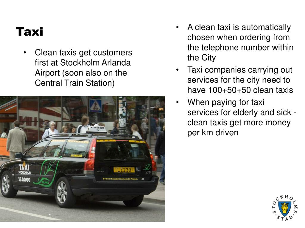 Clean taxis get customers first at Stockholm Arlanda Airport (soon also on the Central Train Station)