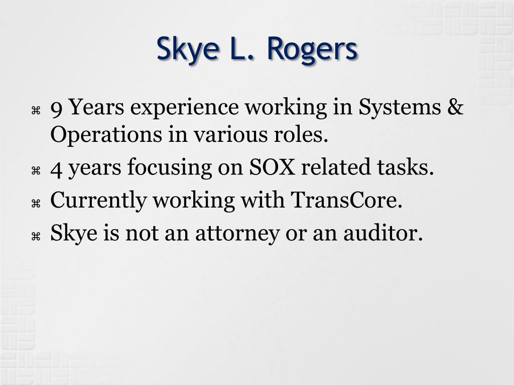 Skye L. Rogers