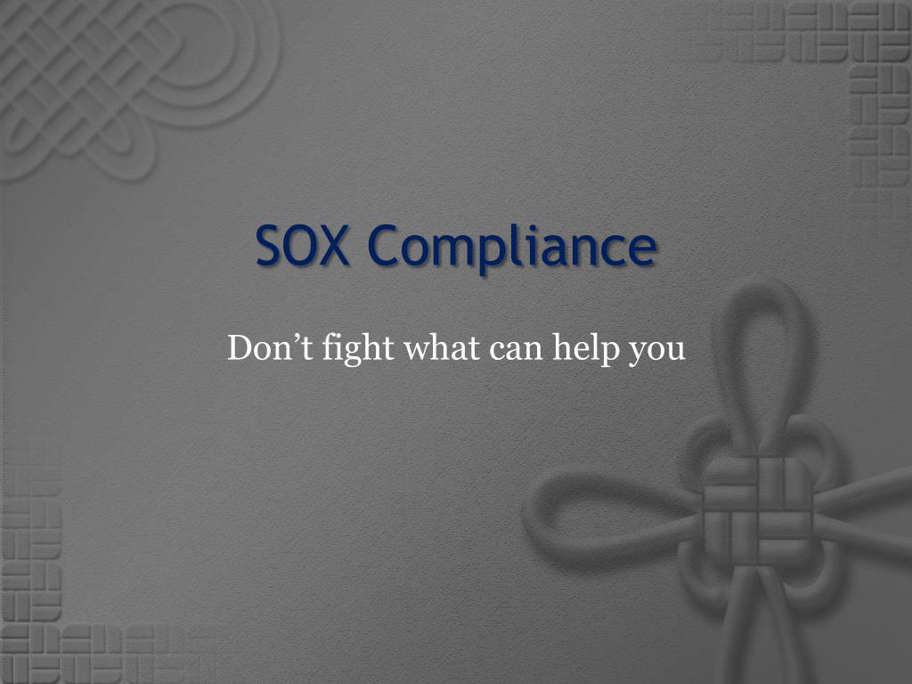 SOX Compliance