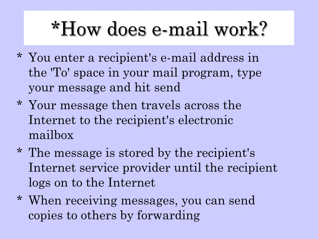 How does e-mail work?