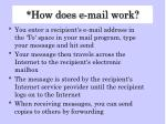how does e mail work