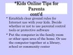 kids online tips for parents cont d26