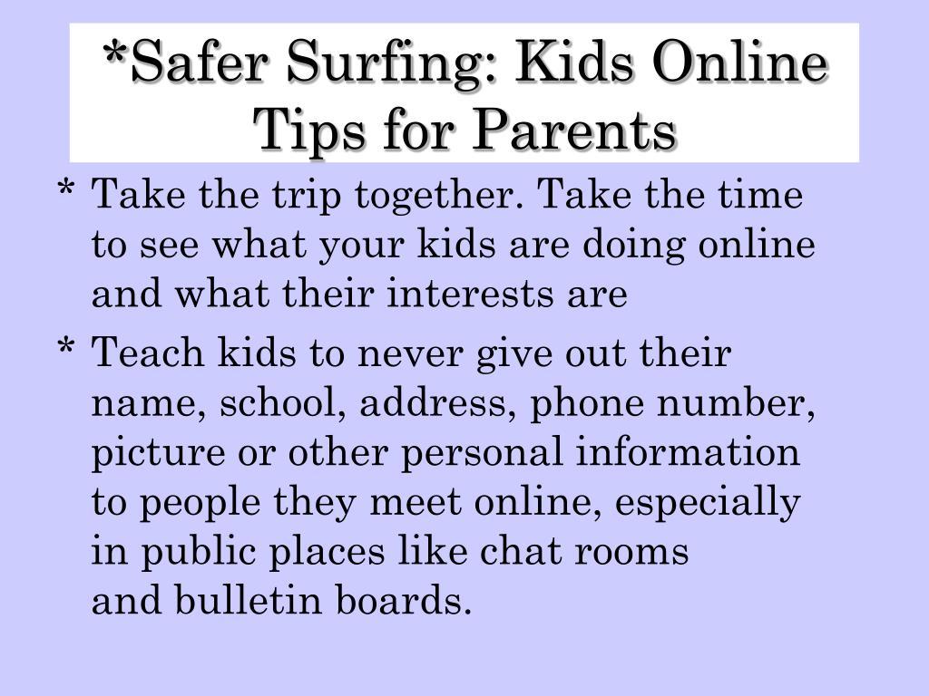 Safer Surfing: Kids Online Tips for Parents