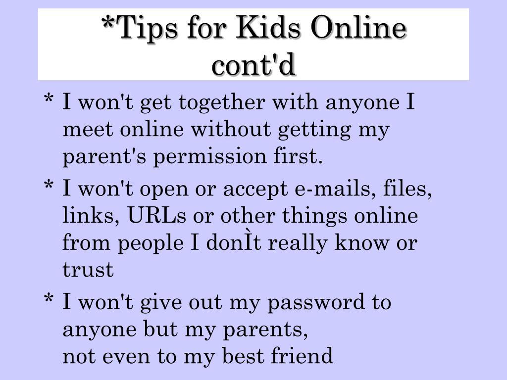 Tips for Kids Online