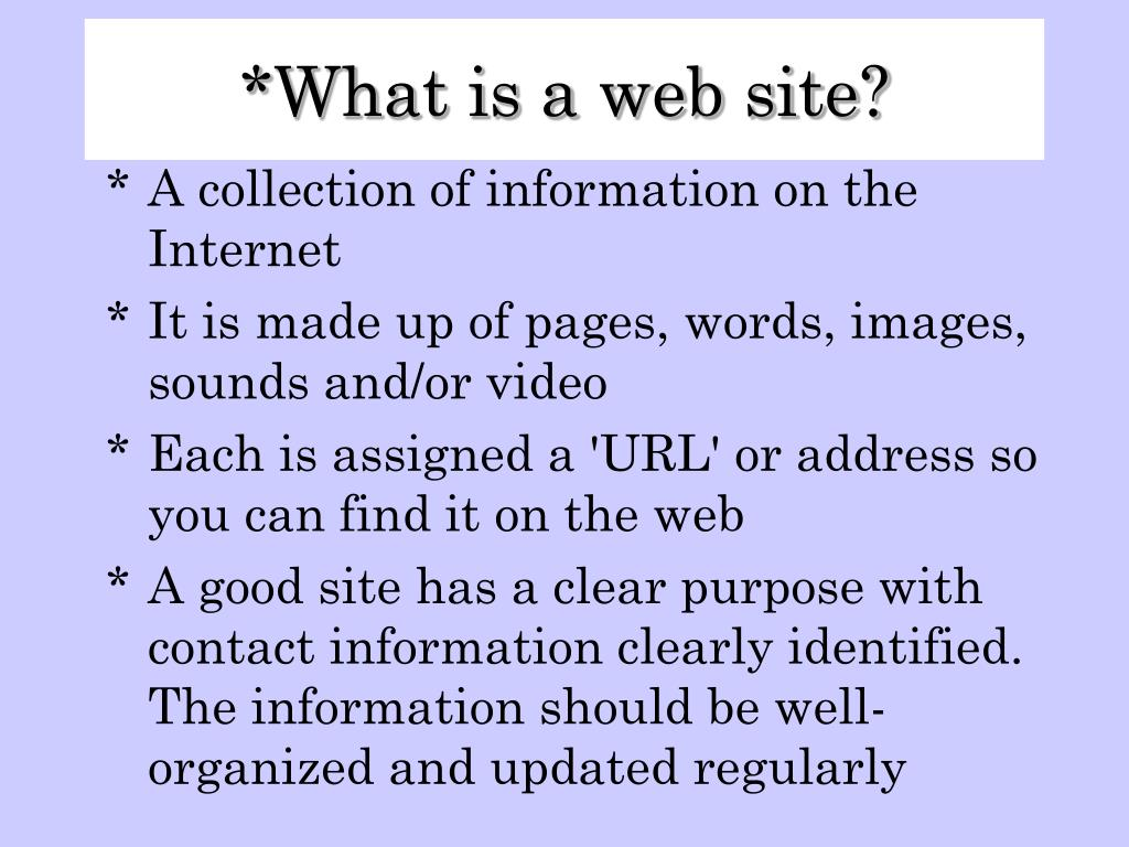 What is a web site?