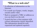 what is a web site