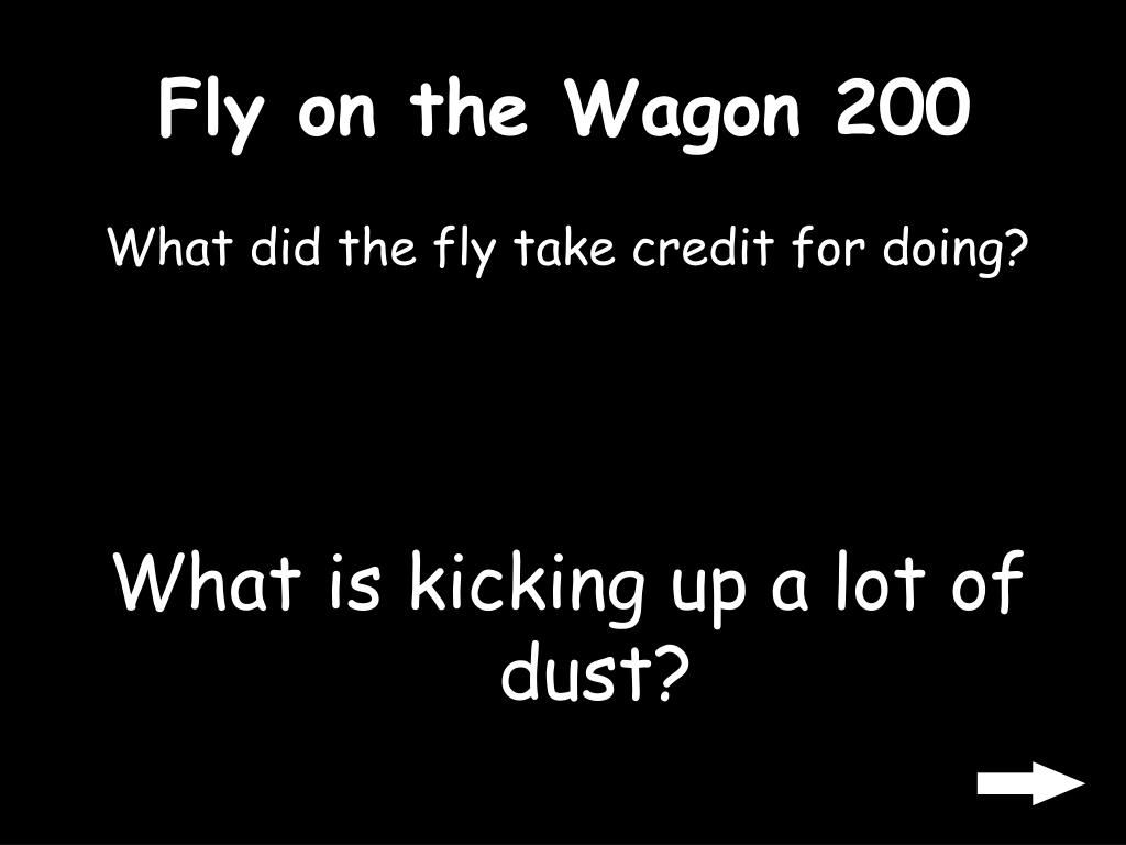 Fly on the Wagon 200