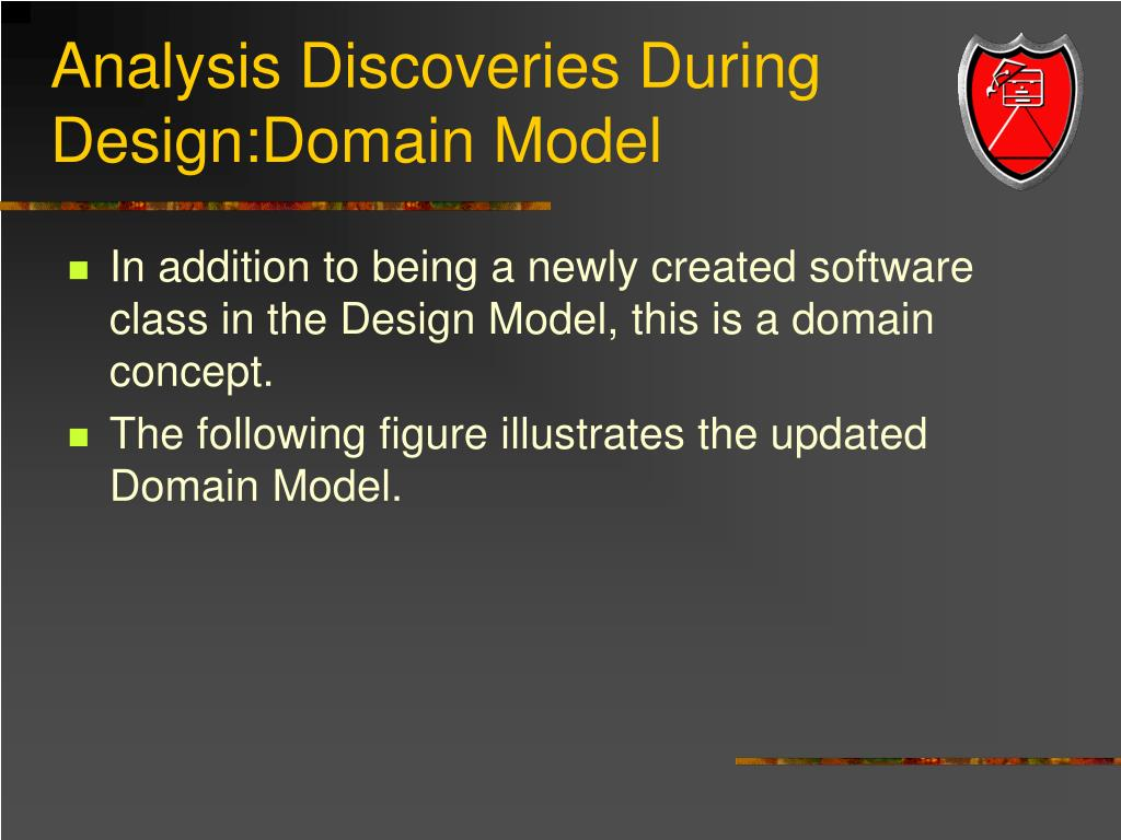 Analysis Discoveries During Design:Domain Model