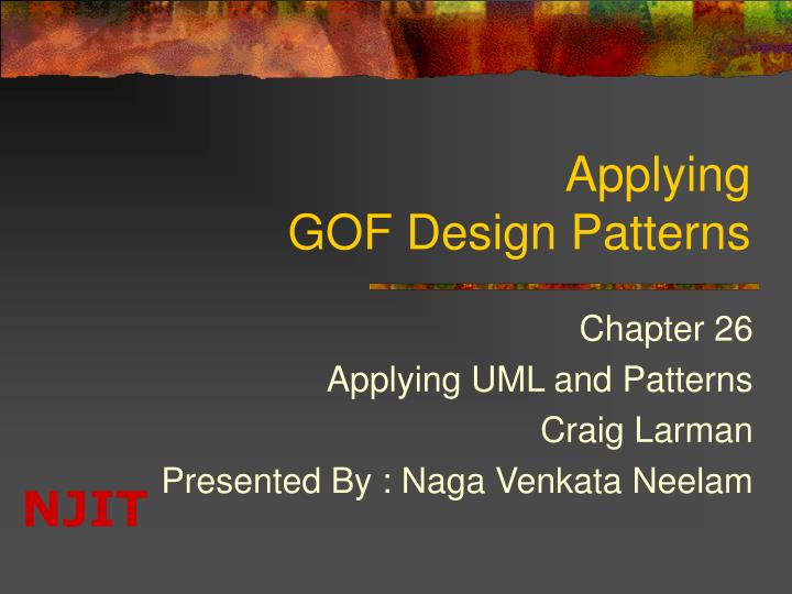 Applying gof design patterns l.jpg