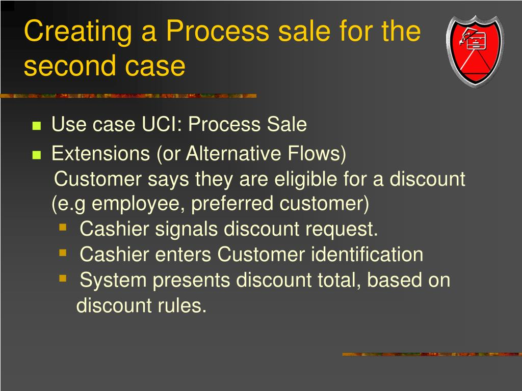 Creating a Process sale for the second case