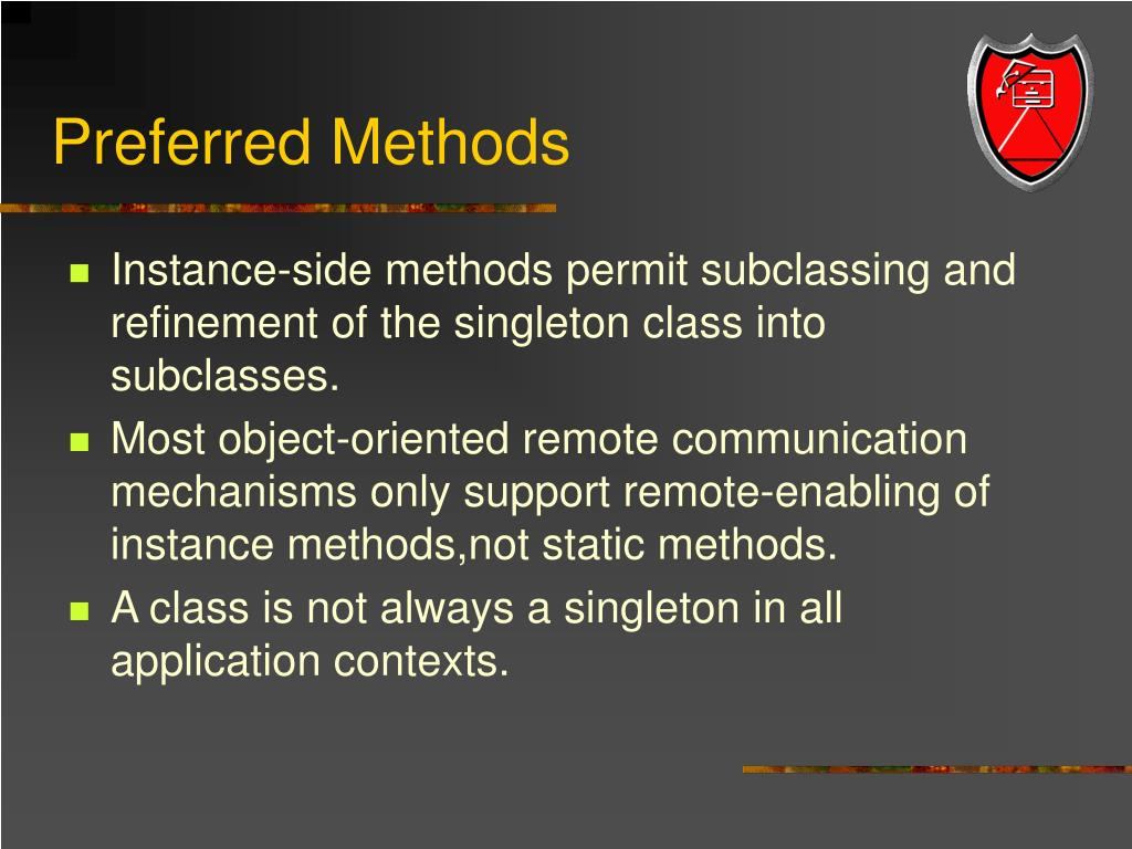 Preferred Methods