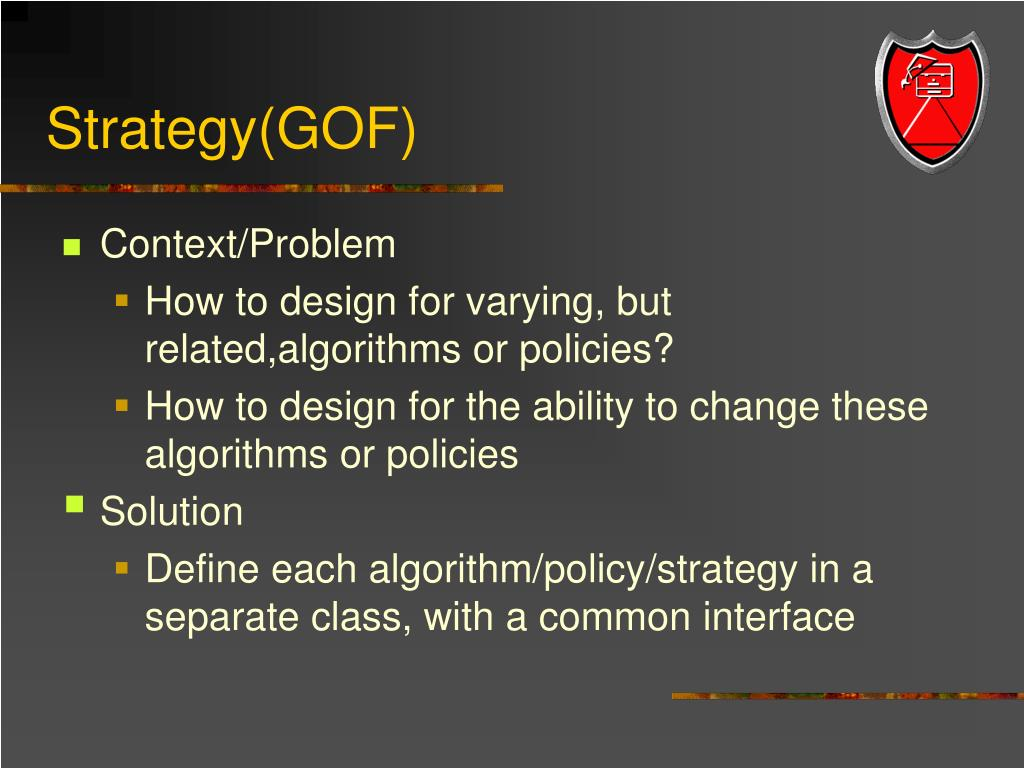 Strategy(GOF)