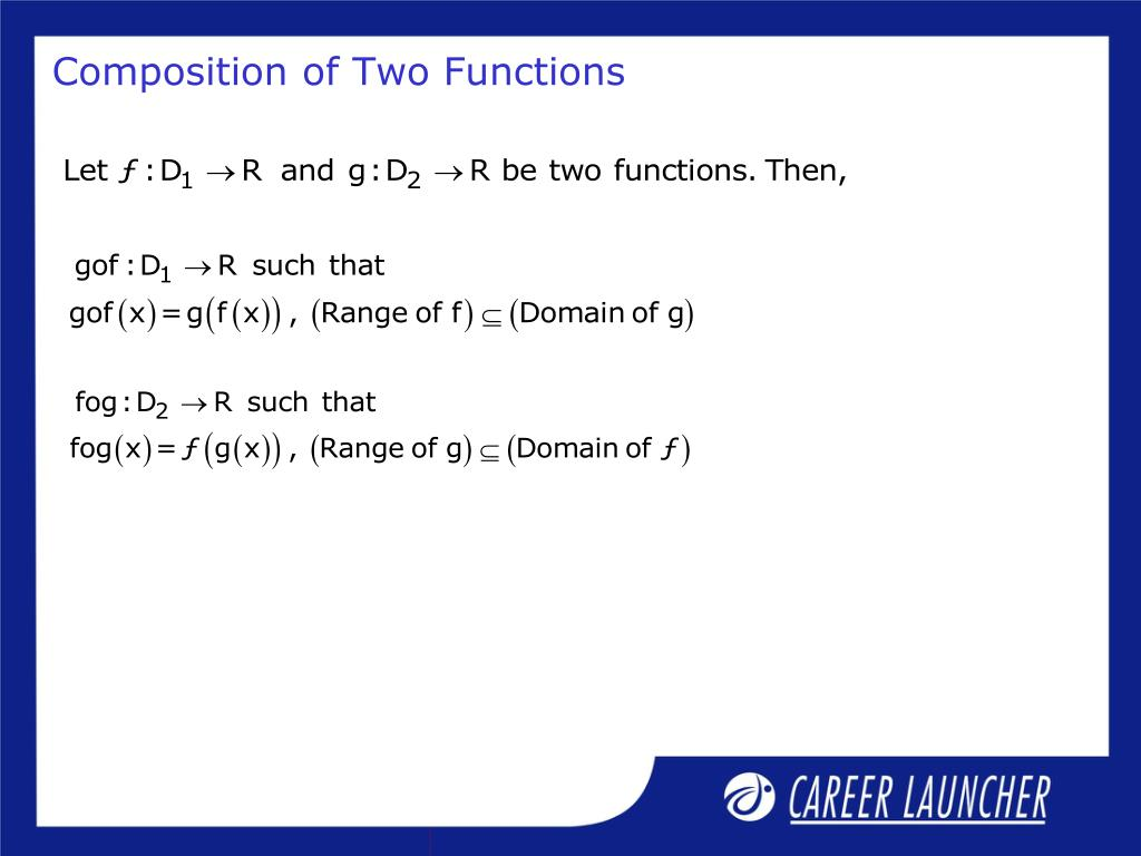 Composition of Two Functions