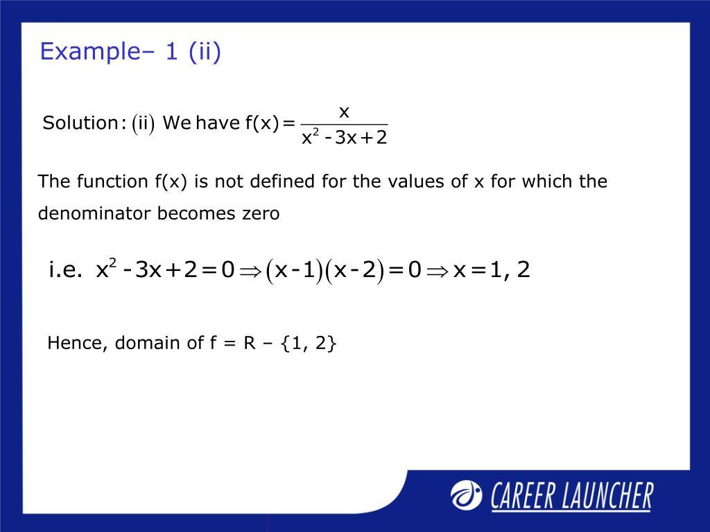 Example– 1 (ii)