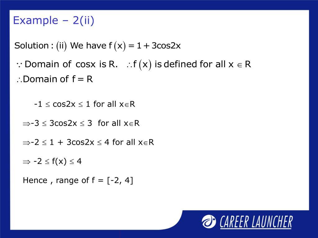 Example – 2(ii)