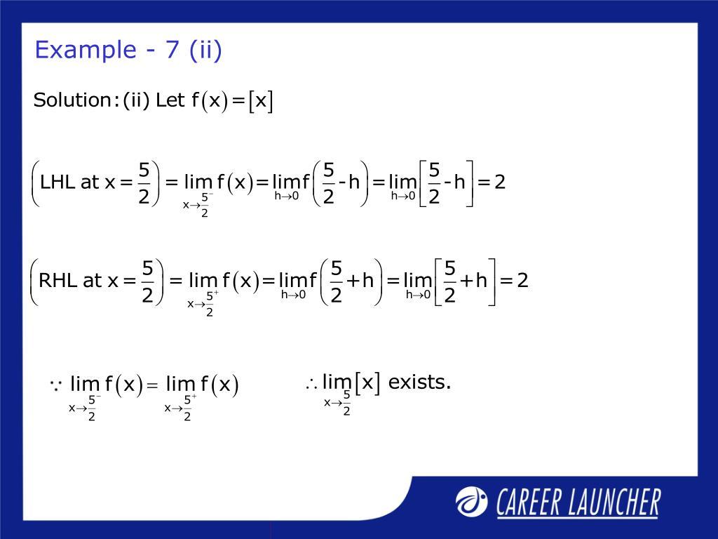 Example - 7 (ii)