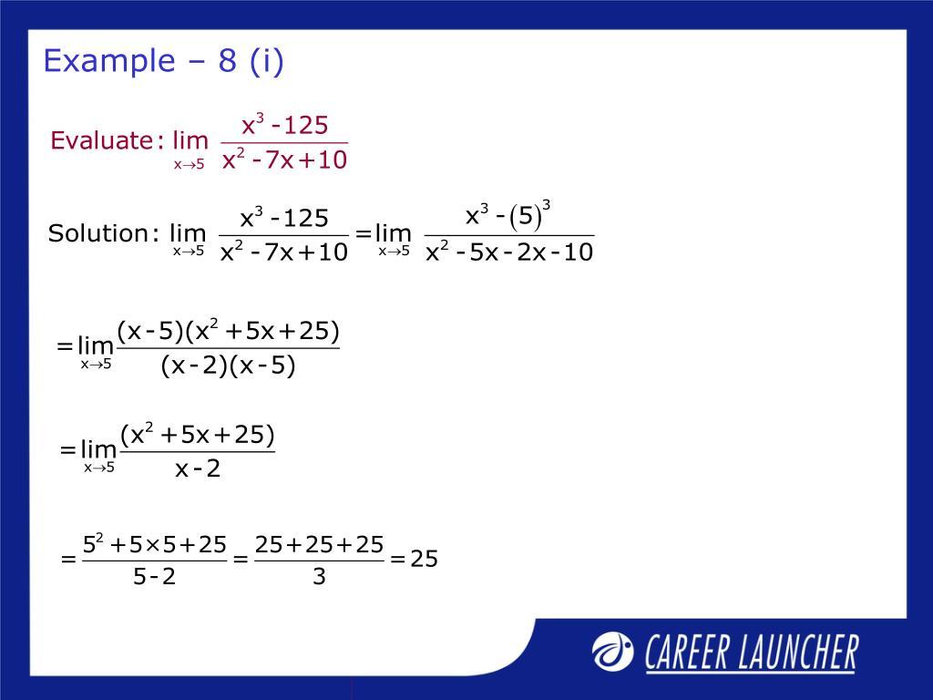 Example – 8 (i)