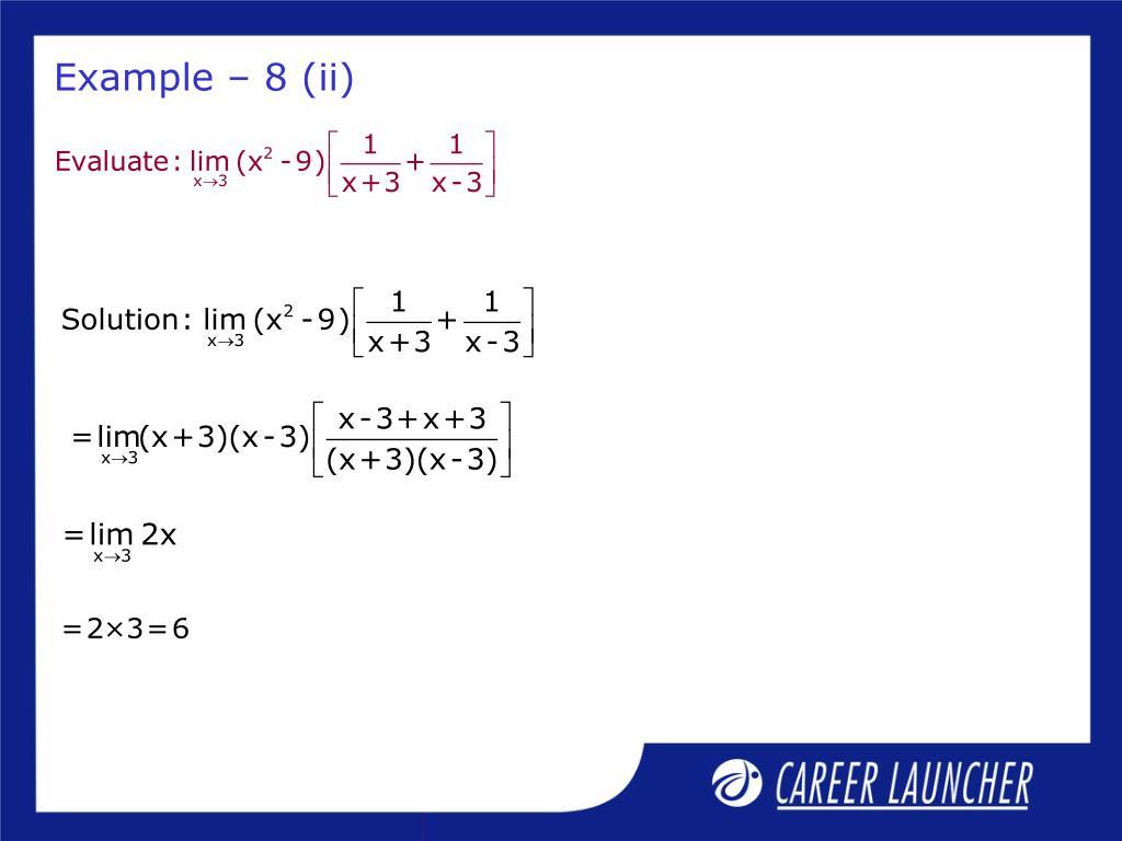 Example – 8 (ii)