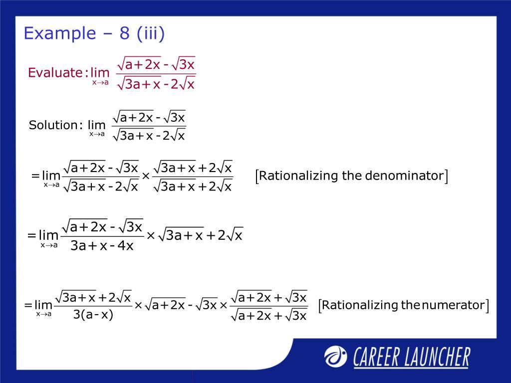 Example – 8 (iii)