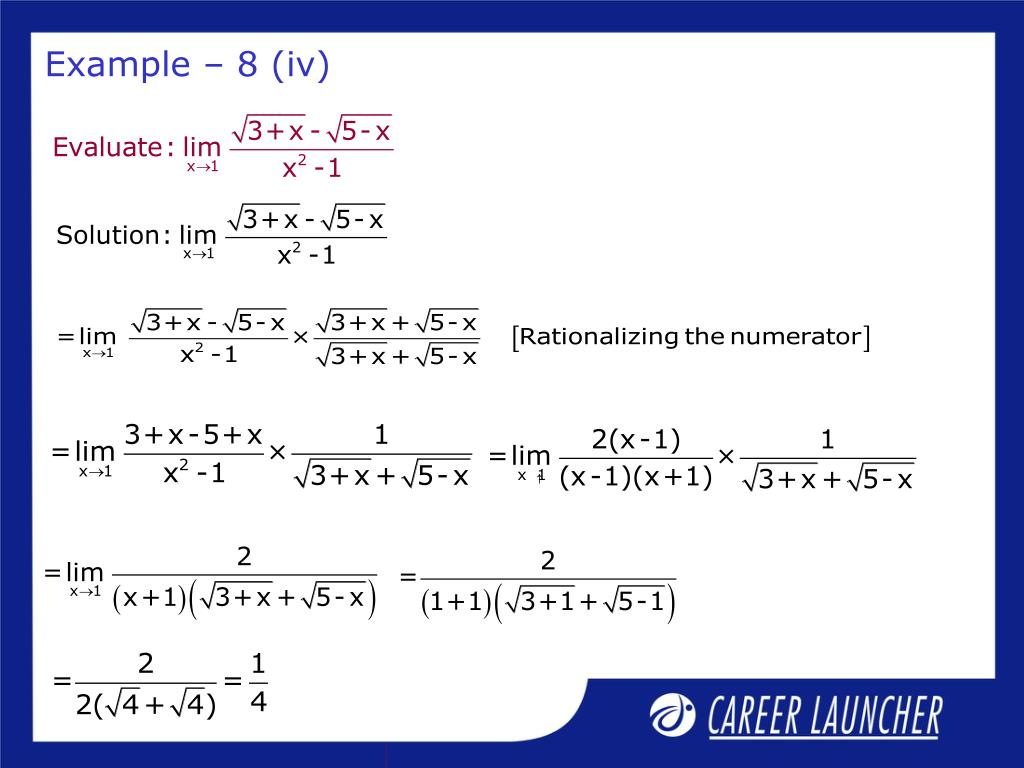 Example – 8 (iv)