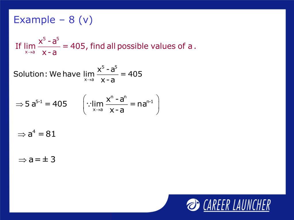 Example – 8 (v)