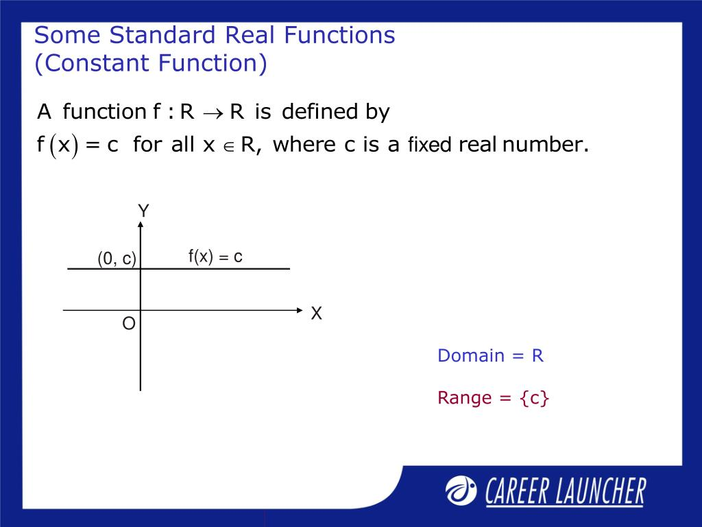 Some Standard Real Functions (Constant Function)