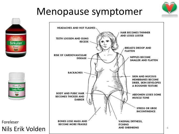 Menopause symptomer