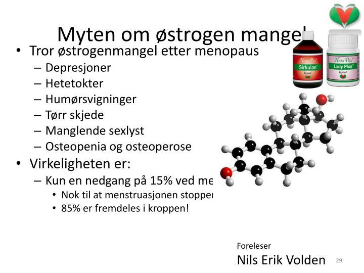 Myten om østrogen mangel