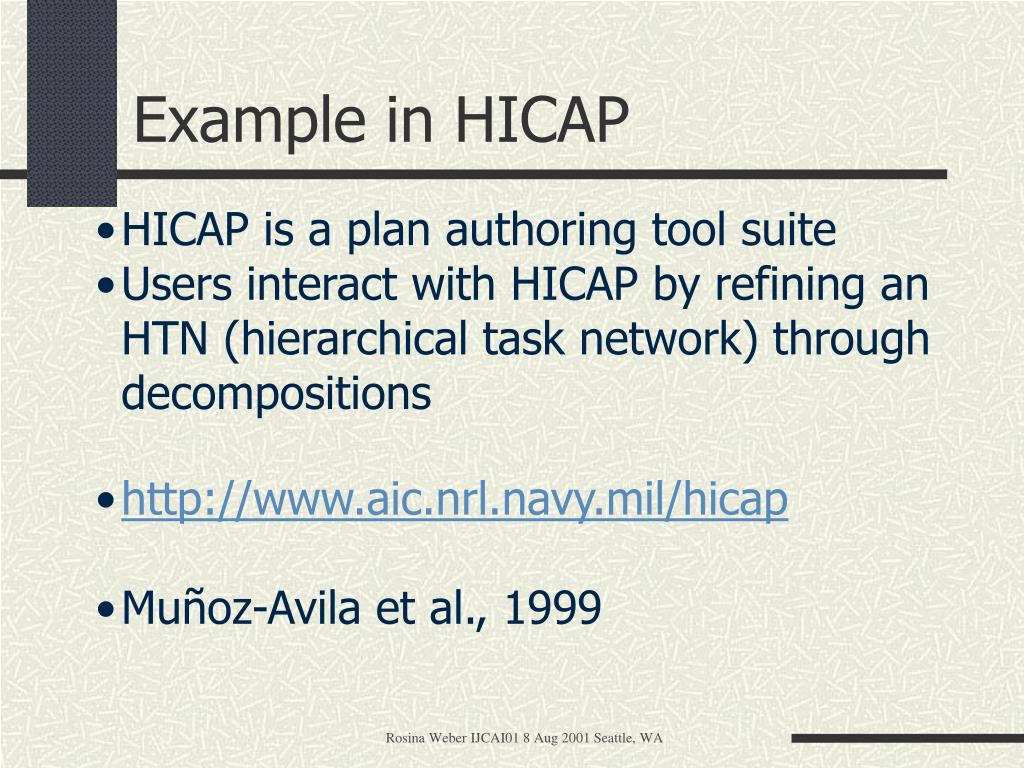 Example in HICAP