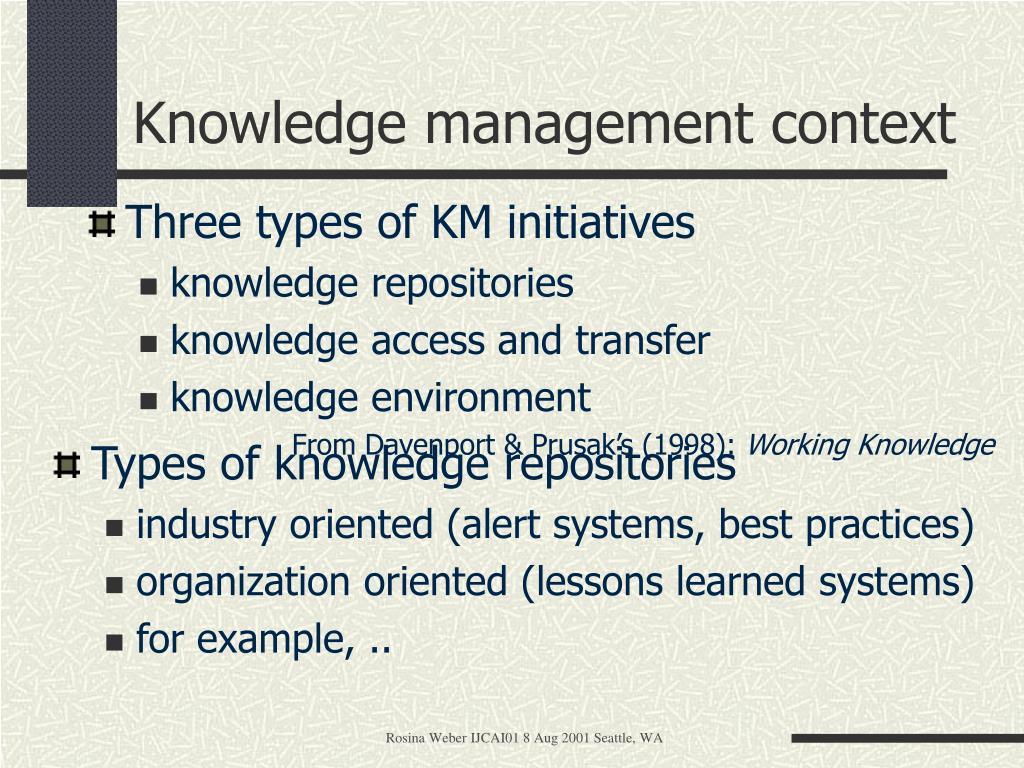 Knowledge management context