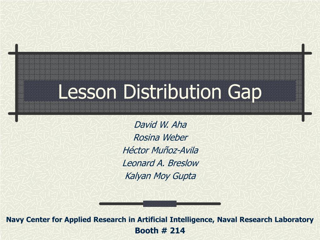 Lesson Distribution Gap